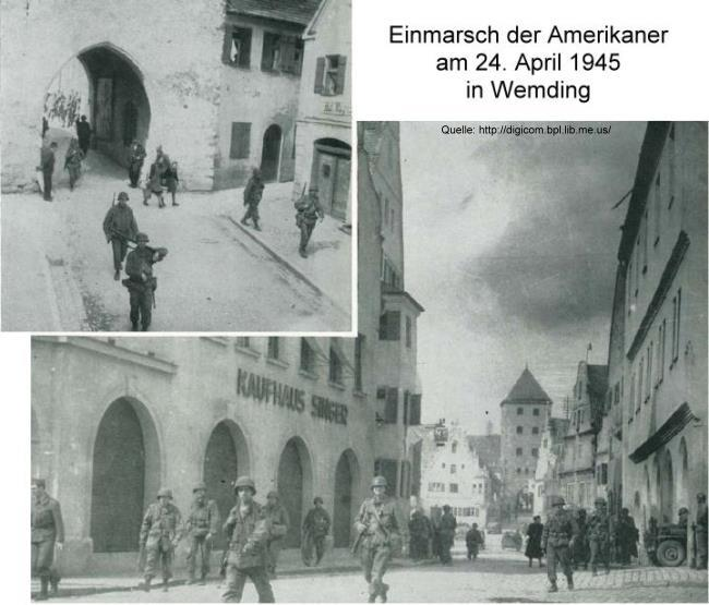 Einmarsch der Amerikaner in Wemding am 24. April 1945